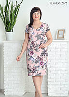 Платье весна-лето скоротким рукавом в размерах 52,54,56,58