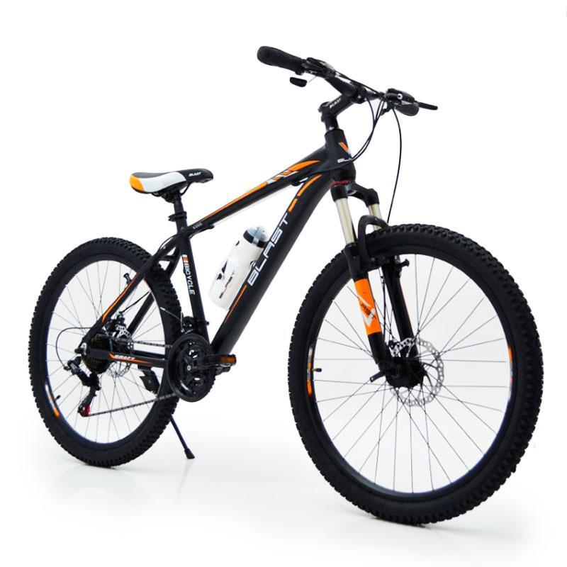 Горный алюминиевый велосипед S300 BLAST-БЛАСТ 26 дюймов  Черно-Оранжевый Япония Shimano