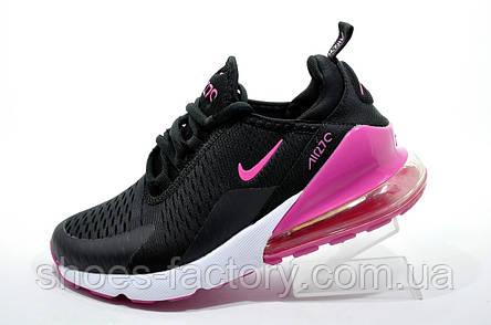 Женские кроссовки в стиле Nike Air Max 270, Black\White\Pink, фото 2