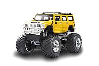 Джип микро на радиоуправлении 1к43 Hummer, желтый - 139547