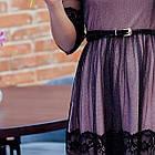 Стильное праздничное платье в сетку для девушек - 2019  - Код пл-506, фото 2