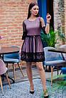 Стильное праздничное платье в сетку для девушек - 2019  - Код пл-506, фото 3