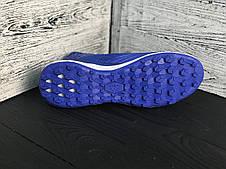 Сороконожки футбольные Adidas Predator с носком реплика Синие, фото 3