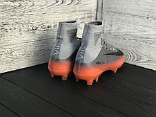 Бутсы футбольные Nike Mercurial Super Fly CR7 с носком реплика, фото 3
