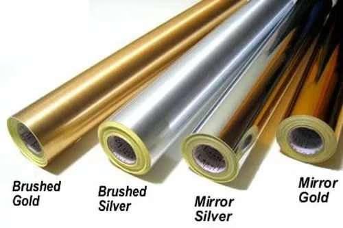 Плівка ORACAL 352/912  дзеркальне золото (2-х стор) (50 мк), рул.1х50м, фото 2