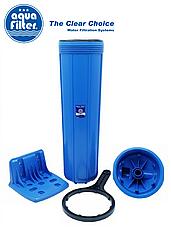 """Корпус фильтра для холодной воды Big Blue 20"""" AquaFilter FH20B1-B-WB 1"""" синяя колба комплект, фото 2"""