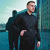 Мужская спортивная стеганая куртка Черная