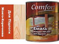 Фарба Жовто-Коричнева ПФ-266 для підлоги  Комфорт 2.8 кг.