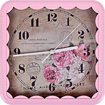 Настенные часы «Квадрат кружево» с рисунком 22×22×4 см, фото 2