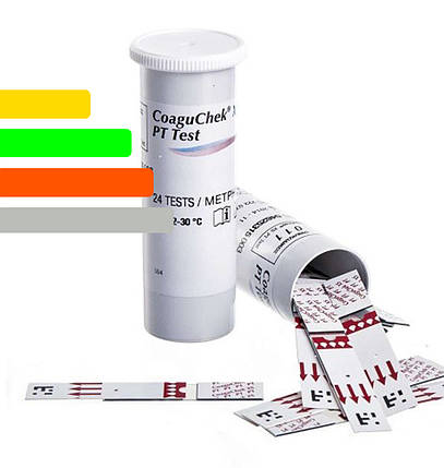 Тест-полоски CoaguChek XS PT Test (Коагучек ИксЭс) для определения МНО, 24 шт., фото 2