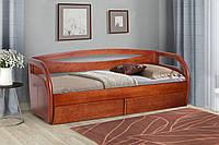 Кровать детская, подростковая из массива дерева с шухлядами - Бавария (0,8*2)(0,9*2)