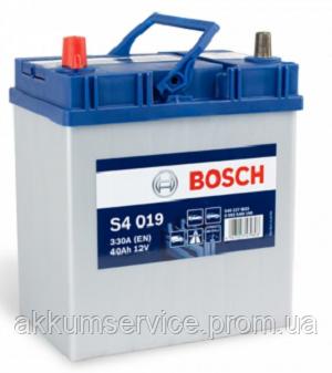 Аккумулятор автомобильный Bosch S4 Silver Asia 40AH R+ 330А (S4 019)
