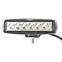 LED Фара робоча 18W/30, (6x3W) 1320 lm вузький промінь (пр-во Jubana), 453701043