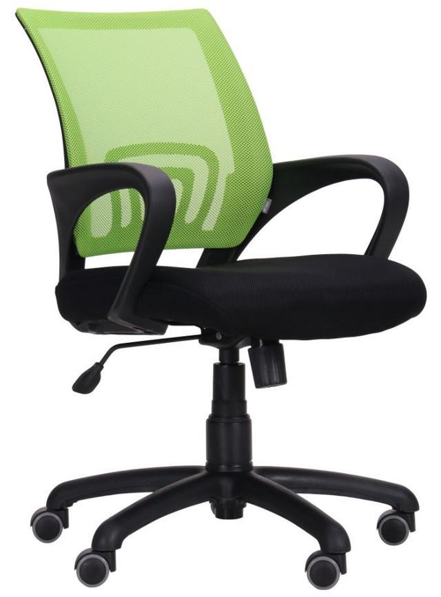 Кресло Веб сиденье Сетка черная/спинка Сетка салатовая