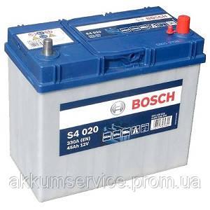 Аккумулятор автомобильный Bosch S4 Silver Asia 45AH R+ 330А евро (S4 020) тонкая клемма