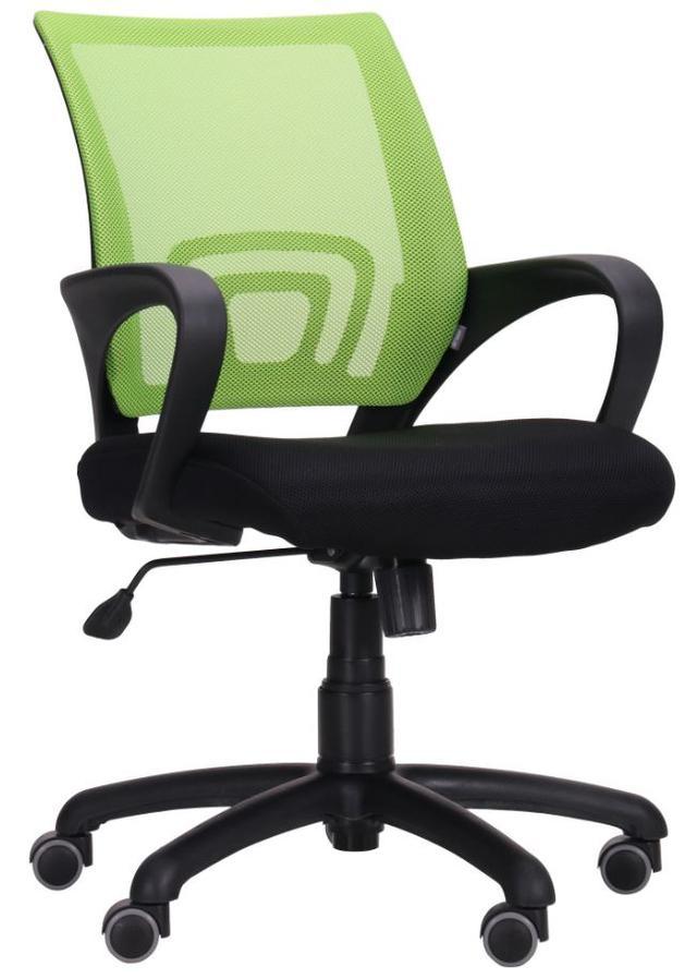 Кресло Веб сиденье Сетка черная/спинка Сетка салатовая (Фото 2)