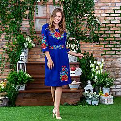 Платье с вышивкой большого размера - Мальва
