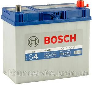 Аккумулятор автомобильный Bosch S4 Silver Asia 45AH R+ 330А евро (S4 021)