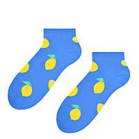 Голубые мужские носки с лимонами Steven 025