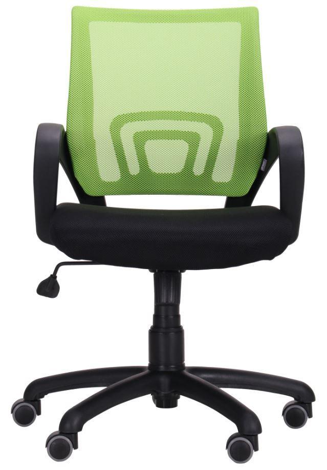 Кресло Веб сиденье Сетка черная/спинка Сетка салатовая (Фото 4)