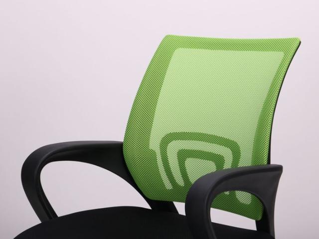 Кресло Веб сиденье Сетка черная/спинка Сетка салатовая (Фото 6)
