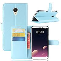 Чехол-книжка Litchie Wallet для Meizu M6s Голубой