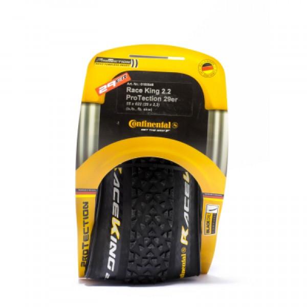 "Покрышка Continental Race King 2.2, 27.5""x2.20, 55-584, Foldable, PureGrip, Performance, Skin, черный"