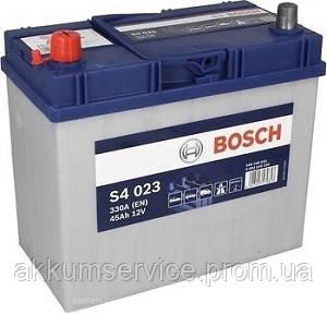 Акумулятор автомобільний Bosch S4 Asia Silver 45AH R+ 330А (S4 023)