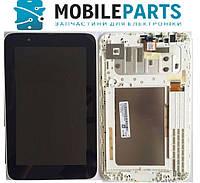 """Дисплей для планшета Lenovo A3500 IdeaTab 7.0"""" с сенсорным стеклом (Черный) в рамке (Белой) Оригинал Китай"""