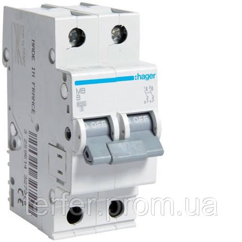 Автоматичний вимикач 2P 6kA B-13A 2M