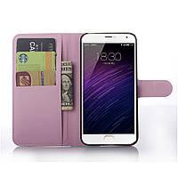 Чохол-книжка Litchie Wallet для Meizu MX5 Світло-рожевий