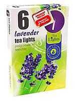 Свічка чайна з ароматом лаванди 6 шт