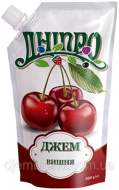 Джем Вишня ТМ Дніпро, дой-пак 250 г