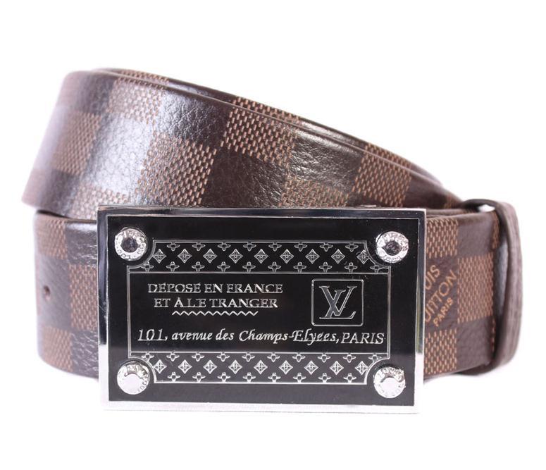 Мужской ремень в стиле Louis Vuitton 301111 Коричневый
