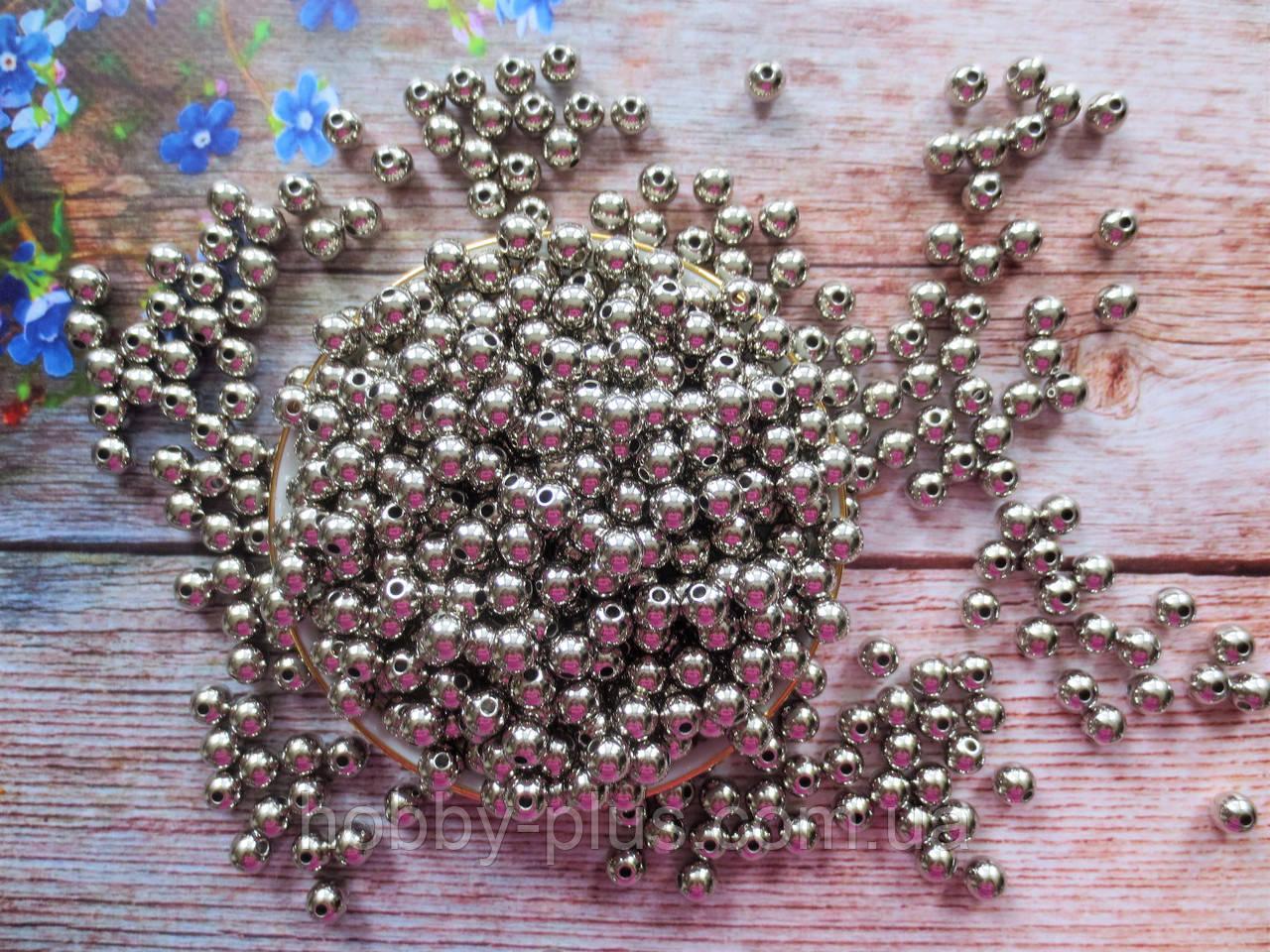 Жемчуг искусственный, 8 мм, цвет серебро, 10 грамм (~40 шт).
