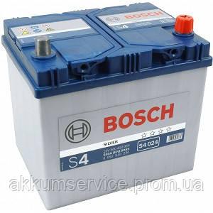 Аккумулятор автомобильный Bosch S4 Silver Asia 60Ah R+ 540A евро (S4 024)