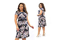 Женское платье Масло пена Размер 52 54 56 58 60 62 64 В наличии 2 цвета, фото 1