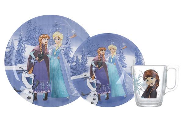 Детский набор посуды LUMINARC DISNEY FROZEN WINTER MAGIC 3 предмета (N5277)