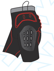Легкі захисні шорти з жорстики пластинами Destroyer DSRP-333