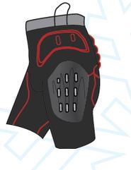 Легкие защитные шорты с жорстикими пластинами Destroyer DSRP-333