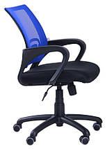 Кресло Веб сиденье Сетка черная/спинка Сетка Синий, фото 2