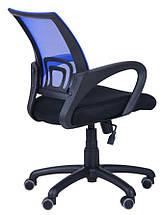 Кресло Веб сиденье Сетка черная/спинка Сетка Синий, фото 3