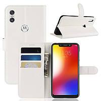 Чехол-книжка Litchie Wallet для Motorola Moto One Power Белый