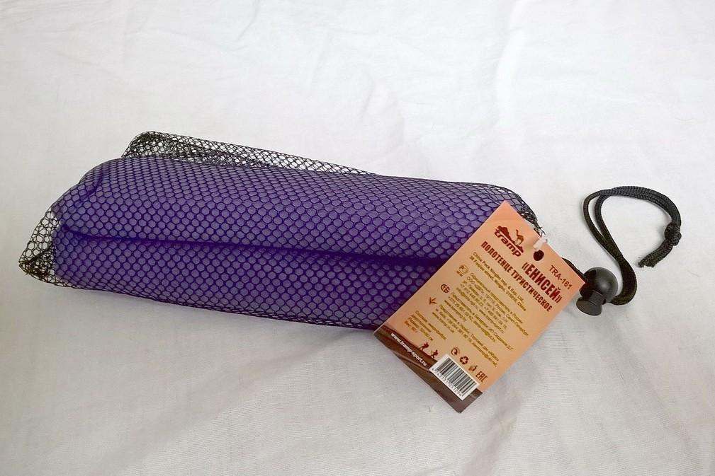 Рушник туристичний Tramp 50 * 80 см, фіолетовий. Полотенце с микрофибры