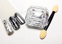 Втирка хлопья Юки для дизайна ногтей Global Professional № 002