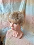 Парик короткий из термоволос под мальчика платиновый блонд RG1777 - 15ВТ613, фото 4