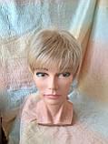 Парик короткий из термоволос под мальчика платиновый блонд RG1777 - 15ВТ613, фото 3