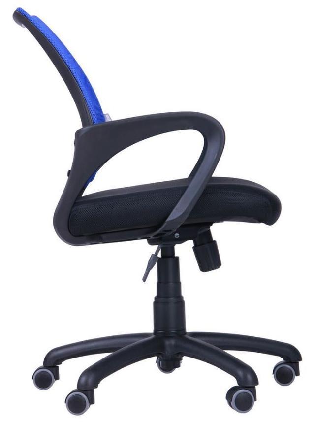 Кресло Веб сиденье Сетка черная-спинка Сетка синяя (Фото 3)