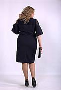 / Размер 42-74 / Женское темно синее платье из костюмки 01150, фото 4