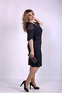 / Размер 42-74 / Женское темно синее платье из костюмки 01150, фото 2